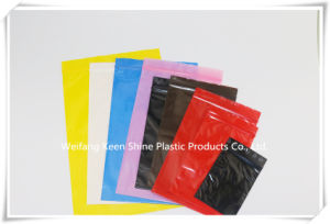 Pink Color Antistatic LDPE Ziplock Bag / Static PE Bag / Custom Printed ESD PE Bags pictures & photos