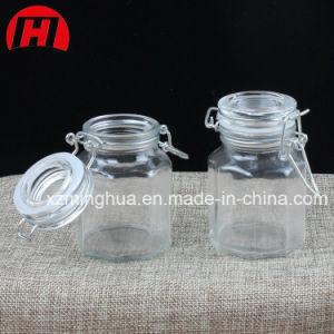 Storage Airtight Seal Lock Lid Glass Jar