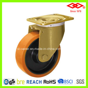 160mm Swivel Plate PU Heavy Duty Caster Wheel (P160-26F160X45) pictures & photos