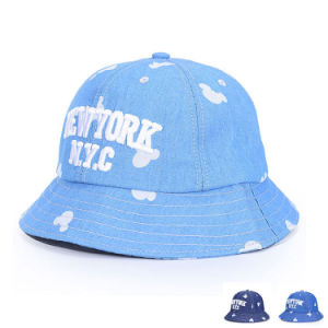 Custom Embroided Promotional Cotton Denim Leisure Bucket Hat (YKY3217) pictures & photos