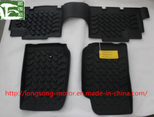 TPE Foot Pad Floor Mat for Two/Four Doors Jeep Wrangler