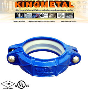 "FM UL Approved 3"" Cast Iron Blue Flexible Grooved Coupling. pictures & photos"
