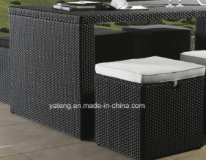 Cheap Popular Design Outdoor Garden Rattan Furniture Dining Set Bar Set with Stool and Table by 6-10person (YT187) pictures & photos
