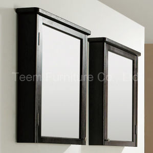 Modern Double Solid Wood Frame Mirror Bathroom Furniture pictures & photos