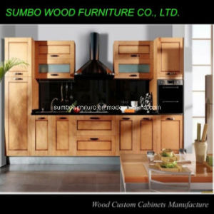 Glaze Solid Wood Kitchen Cabinet (SBK-034)