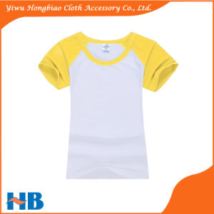 Cotton Round Neck Fashion Plain Women T Shirt