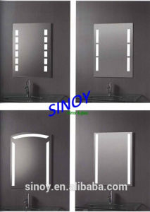 LED Light Mirror Silver Mirror with Sand Blasting Strip pictures & photos