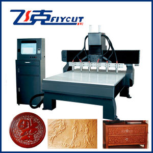 CNC Router Machine Price Sculpture Carving with 6 Spindles pictures & photos