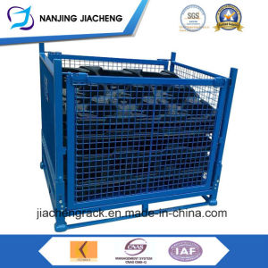 Foldable Warehouse Wire Mesh Crate Storage Container pictures & photos
