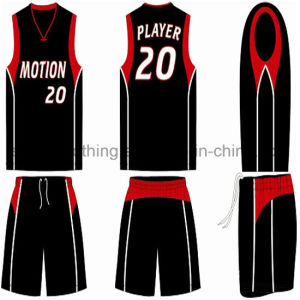 Custom Design Basketball Uniform Black (ELTLJJ-87) pictures & photos