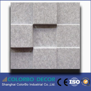 New Design Soundproof Material Polyester Acoustic Wall Panel 3D pictures & photos