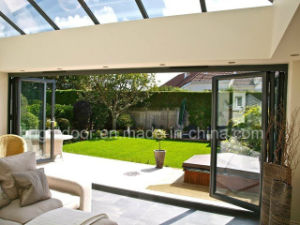 Temporary Folding Door, Aluminium Folding Sliding Door System pictures & photos