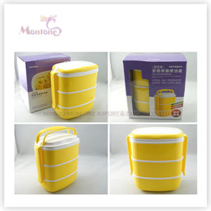 Tableware Food Grade Plastic 3 Layer Thermal Lunch Box pictures & photos