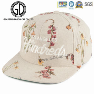 2017 New High Quality Era Acrylic Snapback Cap with Golden Shiny Embroidery Logo pictures & photos