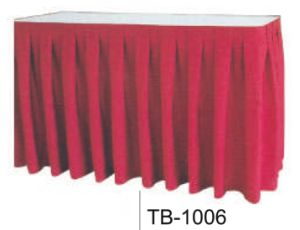 Cheap Stacking Dining Wedding Hotel Classy Polyester Banquet Table Skirt pictures & photos