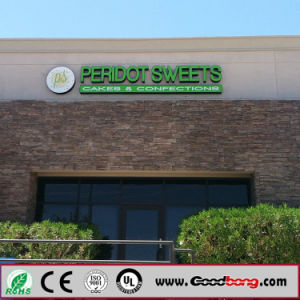 2016 Hot Selling Glowing Stainless Steel Green Lighting Chain Shops Signage pictures & photos