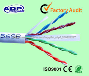 23AWG UTP CAT6 LAN Cable Solid 4 Pairs Copper Cable