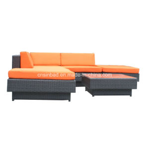 Wicker Furniture Rattan Sofa Set with SGS Certificated (9509-orange)