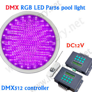 DMX Control PAR 56 LED Swimming Pool Light with Low Voltage 12V