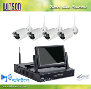 CCTV HD Wireless IP Network Camera System Integrated with 7 Inch LCD WiFi NVR Kit pictures & photos