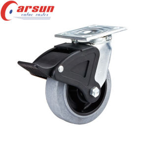 5inches Heavy Duty Swivel Conductive Wheel Caster (with nylon total brake)