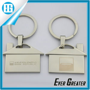 Custom Silver House Shape Couple Metal Key Chain pictures & photos