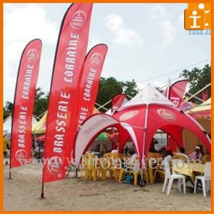 White Outdoor Soccer Beach Flag with Stand (TJ-60) pictures & photos