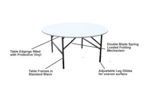Hotel Round 6FT Plywood Banquet Table with PVC pictures & photos