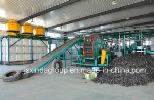 Scrap Tyre Recycling Plant Rubber Crumb Production Line pictures & photos