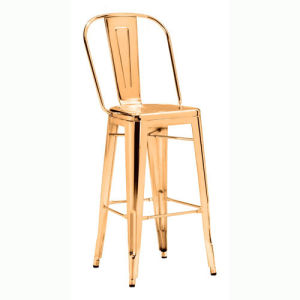 Miraculous Events Use Gold Finish Tolix High Back Bar Stool Gmtry Best Dining Table And Chair Ideas Images Gmtryco