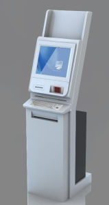 Height Adjustable Touchscreen Information Kiosk with Metal Keyboard pictures & photos