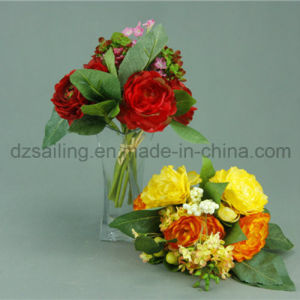 Elegant Peony Bouquet Artificial Wedding Flower for Decoration (SF12933)
