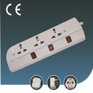 Extension Universal Three Ways Electrical Socket with Switch