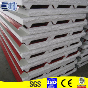 Tongue and Groove Sandwich Steel EPS Insulation Panels pictures & photos