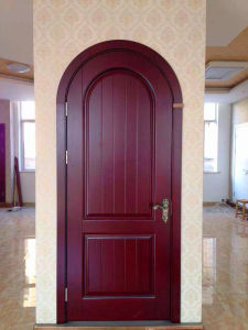 Quality Arch Wooden Door pictures & photos