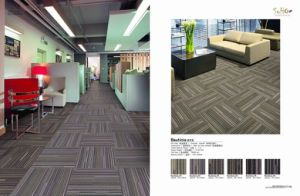 Flame Retardance Nylon Carpet Tile with PVC Backing pictures & photos
