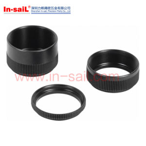 Black Anodized Metal Knurled Threaded Round Rings pictures & photos