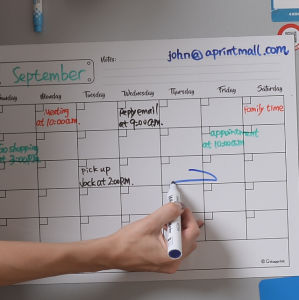 Customized Dry Erase Board Magnetic Calendar Planner