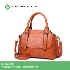 in Stock High Quality Fashion PU Leather Women Bag with Low MOQ