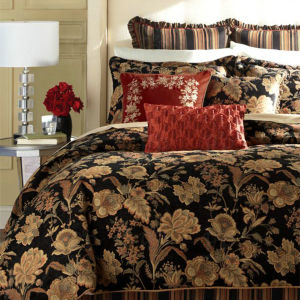 Luxurious American Style Jacquard Floral Chenille Upholstery Sofa Bedding Fabric