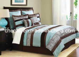 Embroidery 7PCS King Size Comforter Set Luxury Bedding