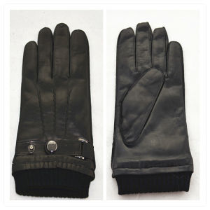 Lady Fashion Leather Gloves (JYG-25088) pictures & photos