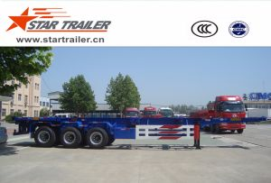 3 Axles Skeleton Container Chassis Trailer pictures & photos