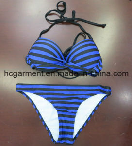 Strip Printing Sexy Beachwear Bikini for Women Man/Girl, Swimming Wear pictures & photos