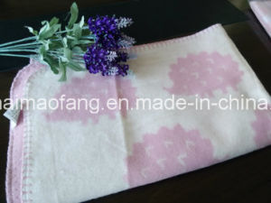100%Cotton Baby Blanket with Jacquard Design pictures & photos