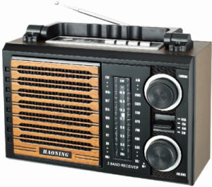 Multifunction Radio with USB/SD and Rechargeable Battery and Wooden Cabinet (HN-2215UAR)