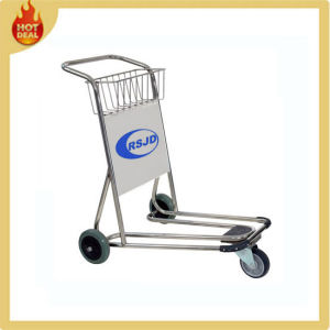 Stainless Steel 3 Wheels Handle Airport Trolley Cart (GS1) pictures & photos