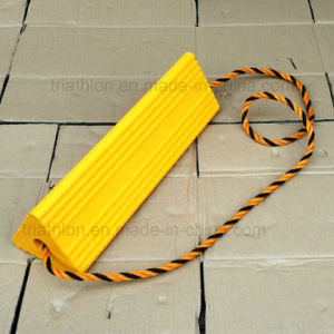 "18"" 24"" 36"" Bright Yellow Orange PU Truck or Aircraft Wheel Chocks"