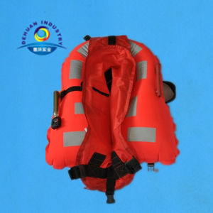 Nylon Inflatable Life Jacket with Many Reflective Tap