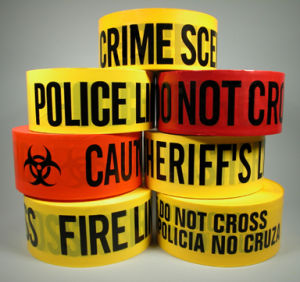 PE Warning Tape, Caution Tape, Barricade Tape Yellow and Red pictures & photos